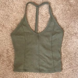 Cropped halter-like top